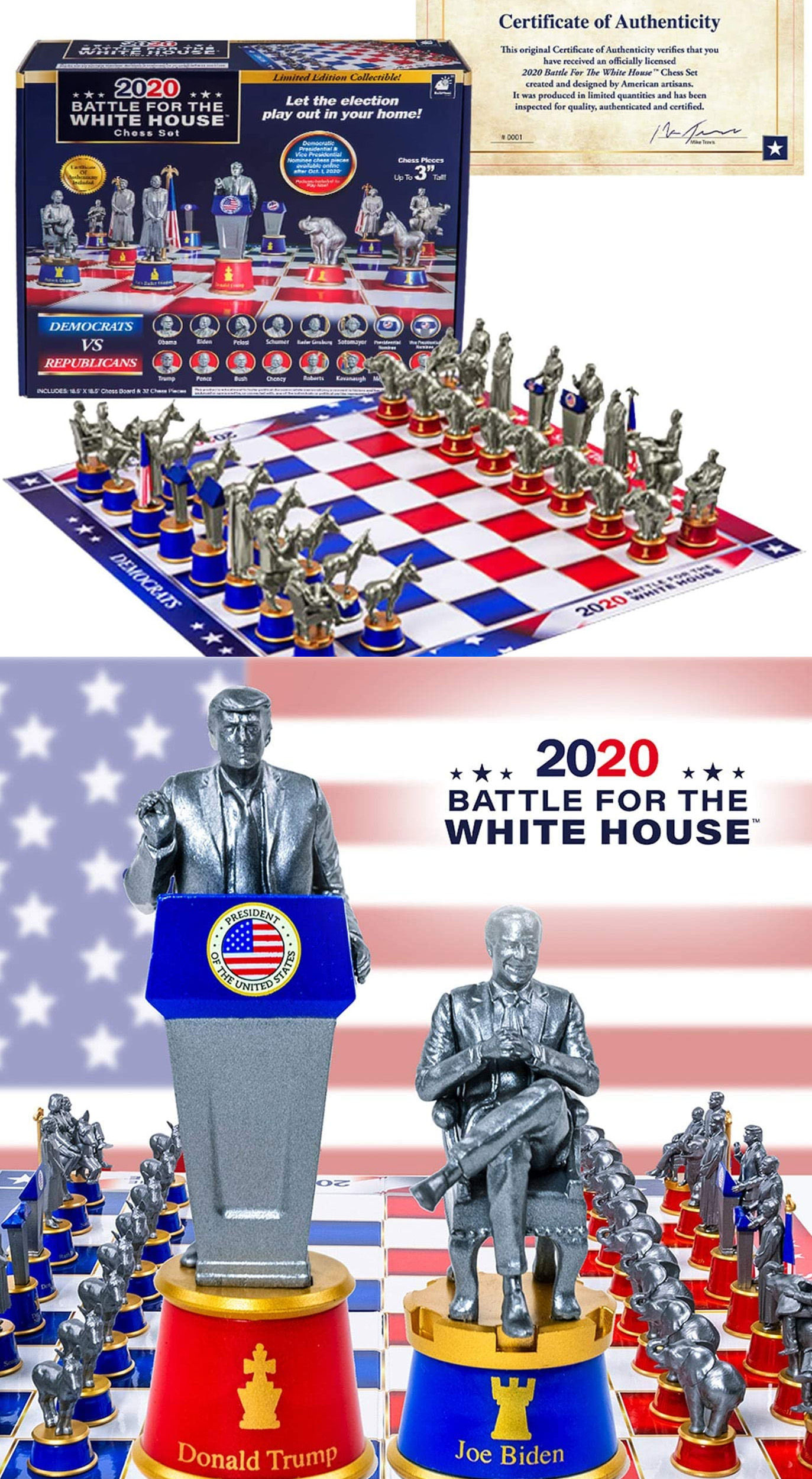 2020 BATTLE FOR THE WHITE HOUSE CHESS SET