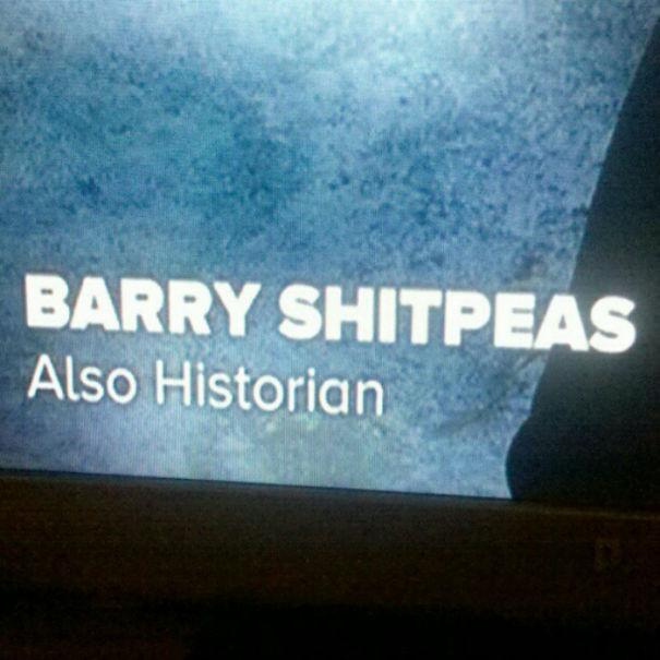 Barry Shitpeas