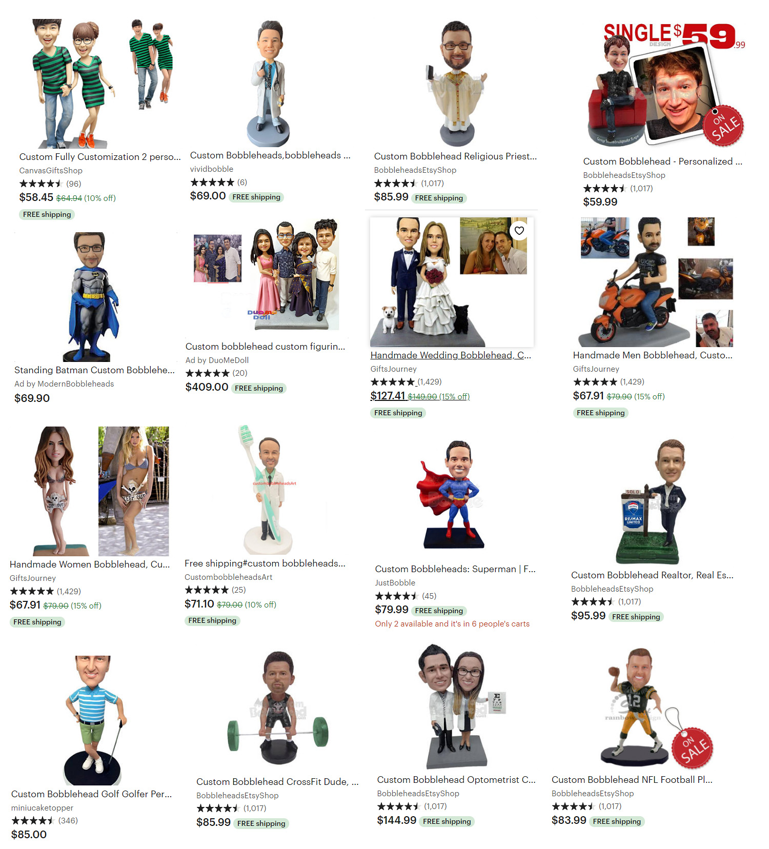 Create Your Own Bobbleheads