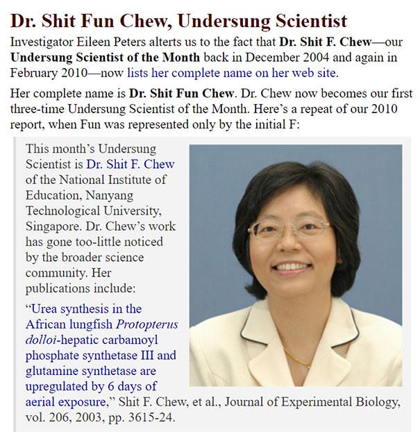 Dr Shi Fun Chew