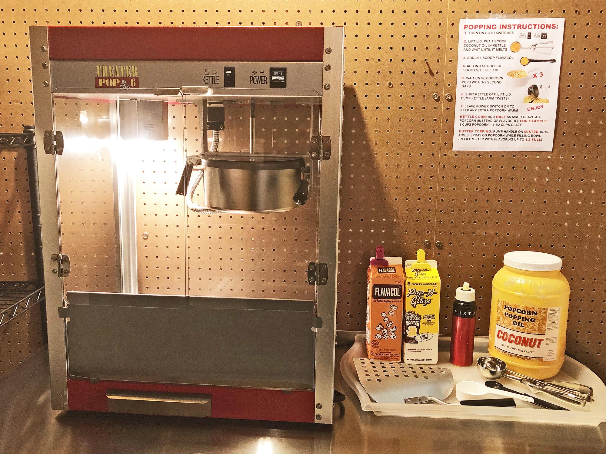 Popcorn Machine Setup