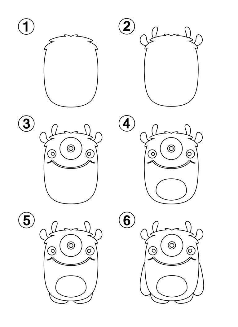 LEARN HOW TO DRAW MONSTERS FOR KIDS