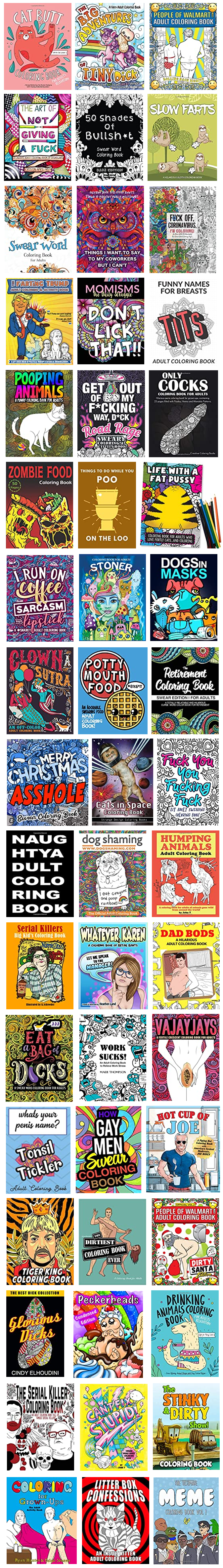 THE FUNNIEST ADULT COLORING BOOKS
