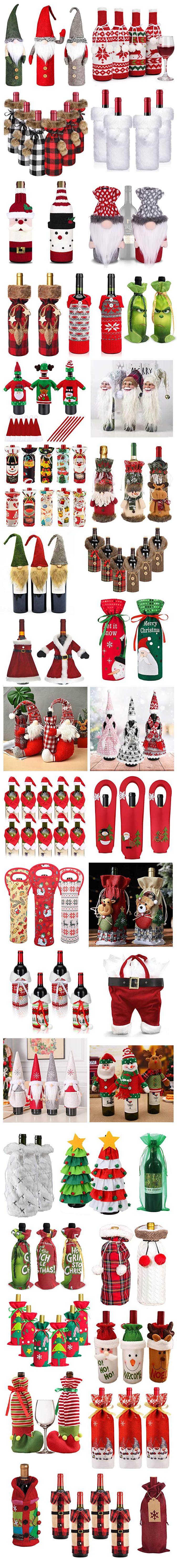 FUN CHRISTMAS WINE BOTTLE BAGS