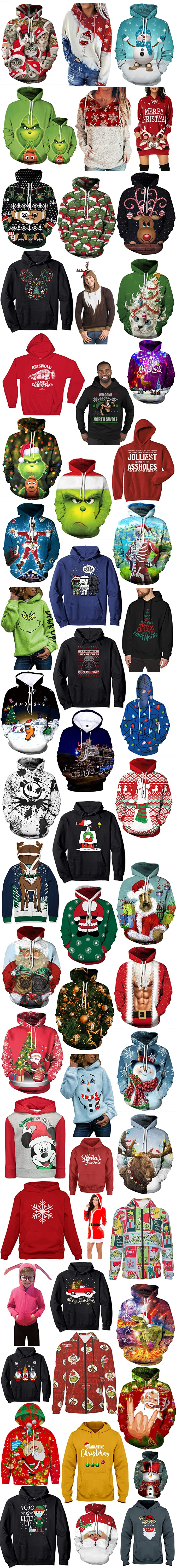 CHRISTMAS THEMED HOODIES FOR MEN AND WOMEN