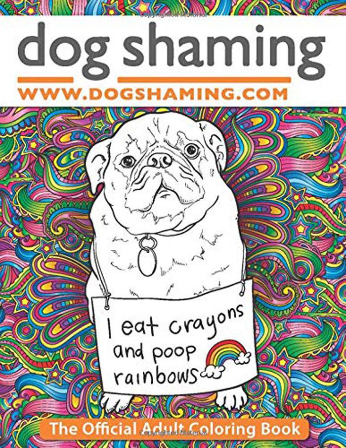 Dog Shaming Adult Coloring Book
