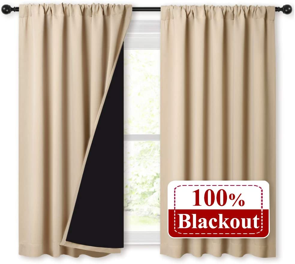 Thick Insulated Full Blackout Curtains