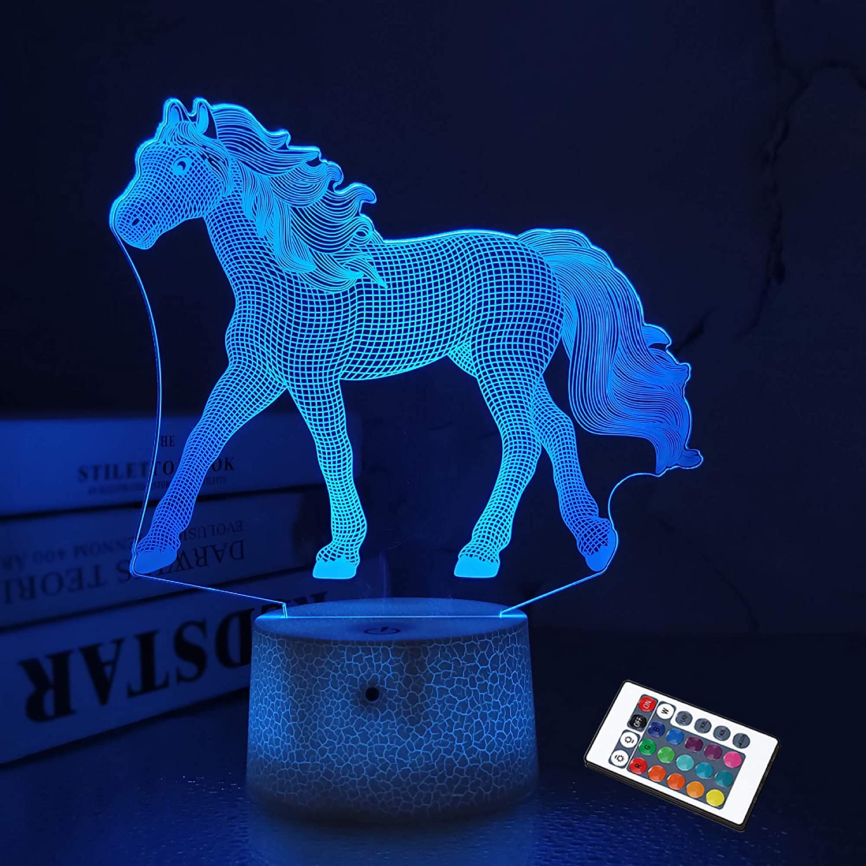 LED Illusion Horse Night Light