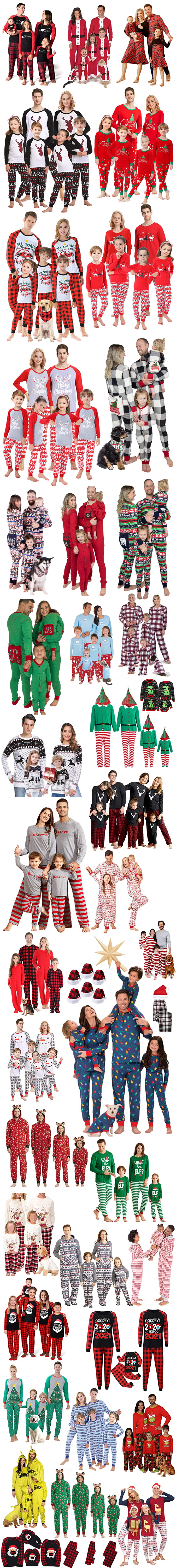 MATCHING FAMILY CHRISTMAS ONESIES PAJAMAS SWEATERS HATS AND OUTFITS