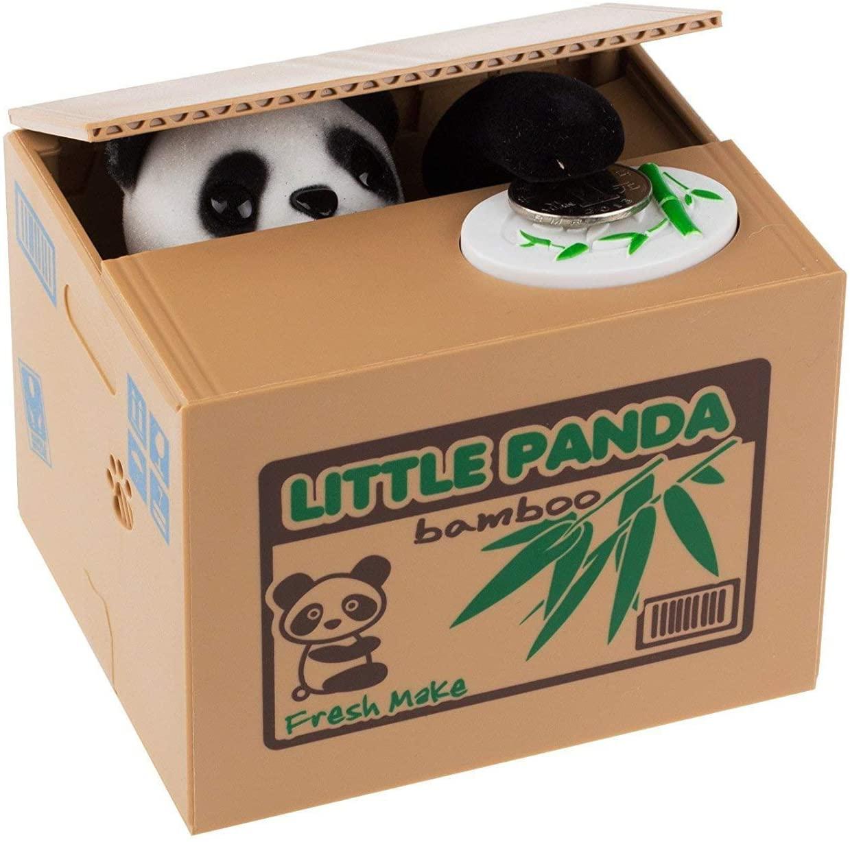 Panda Coin Stealing Money Piggy Bank