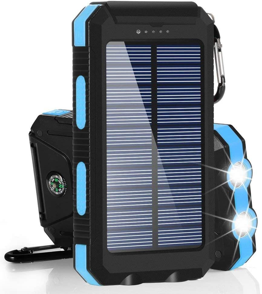 Portable Solar Powered Smart Phone Battery Charger Battery Pack