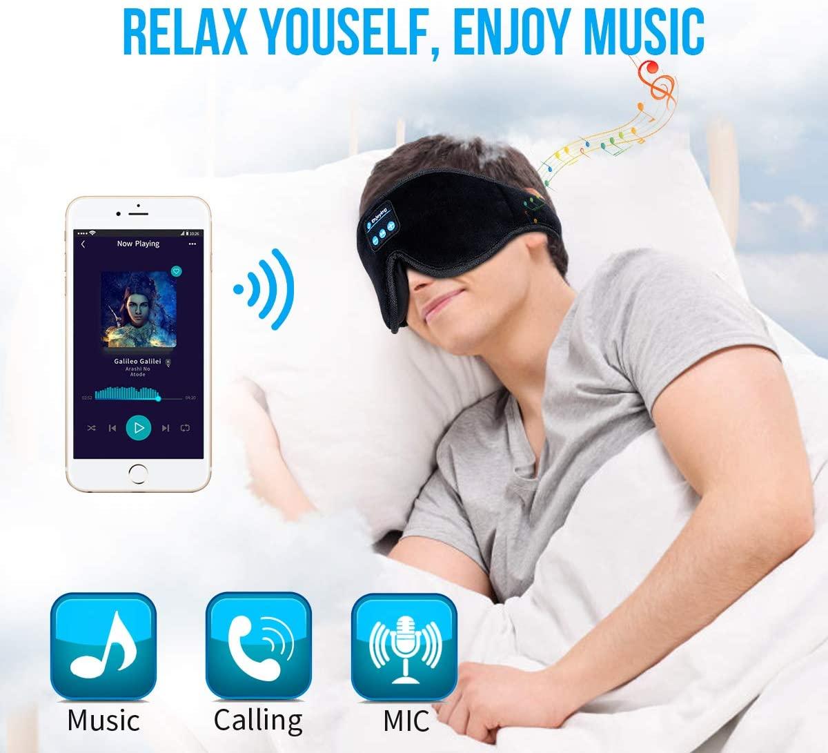 Sleep Headphones 3D Sleep Mask Bluetooth Wireless Music Eye Mask