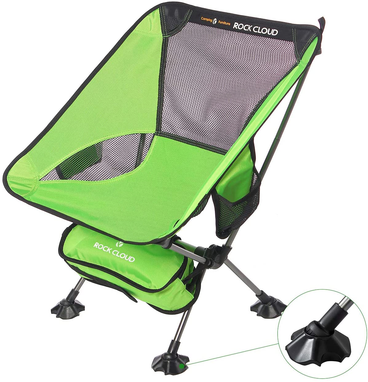 Ultralight Folding Camping Chair with Legs Stabilizers