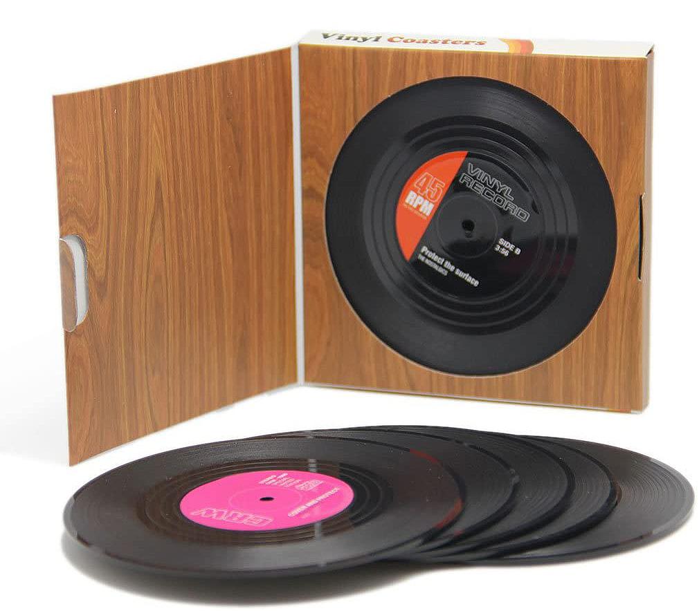Vinyl-Record-Coasters-Set