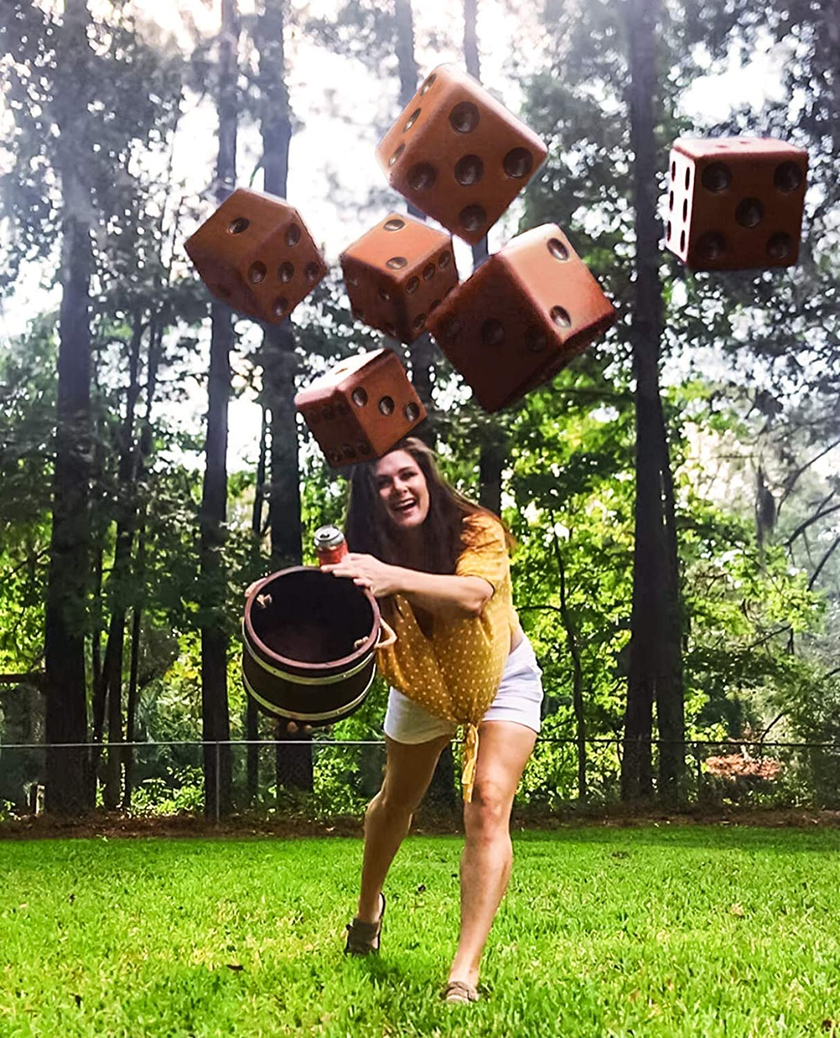 FARKLE FOR THE LAWN A WOODEN DICE GAME