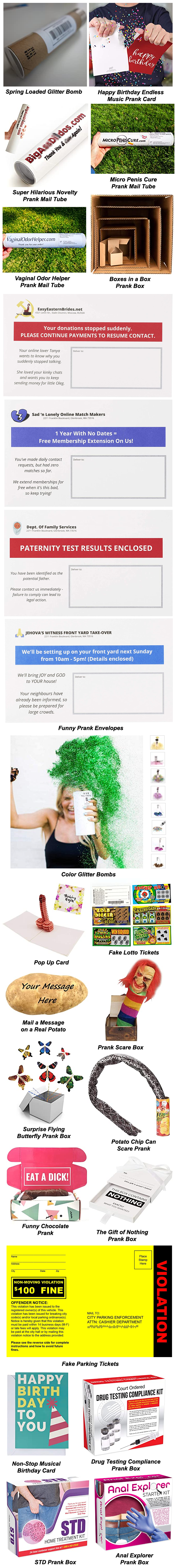 EMBARRASSING PRANKS YOU CAN MAIL