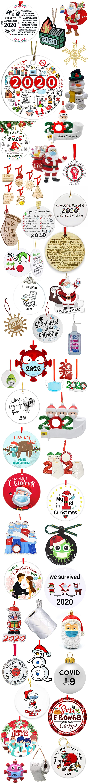 CHRISTMAS QUARANTINE ORNAMENTS 2020