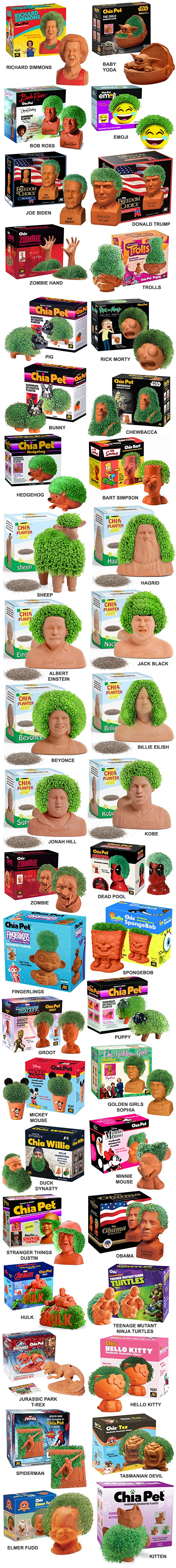 THE BEST FUNNIEST DUMBEST CHIA PETS