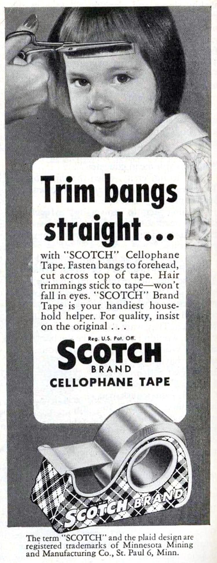 Trim-Bangs-With-Scotch-Tape