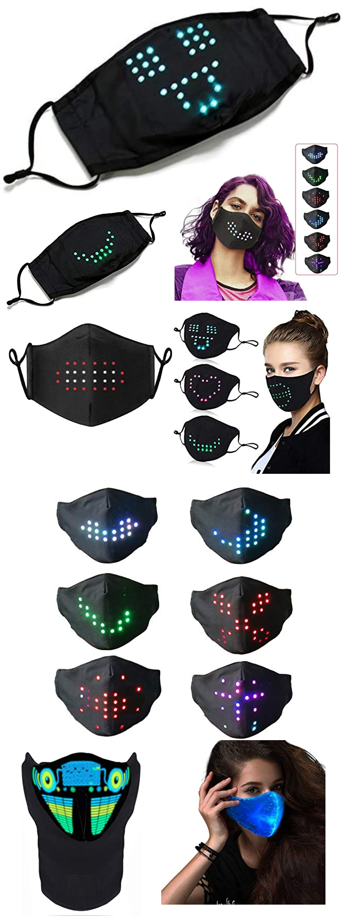 VOICE ACTIVATED FACE MASKS